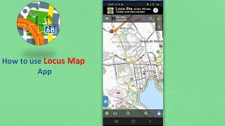 How to use GPS Locus Map App navigation screenshot 1