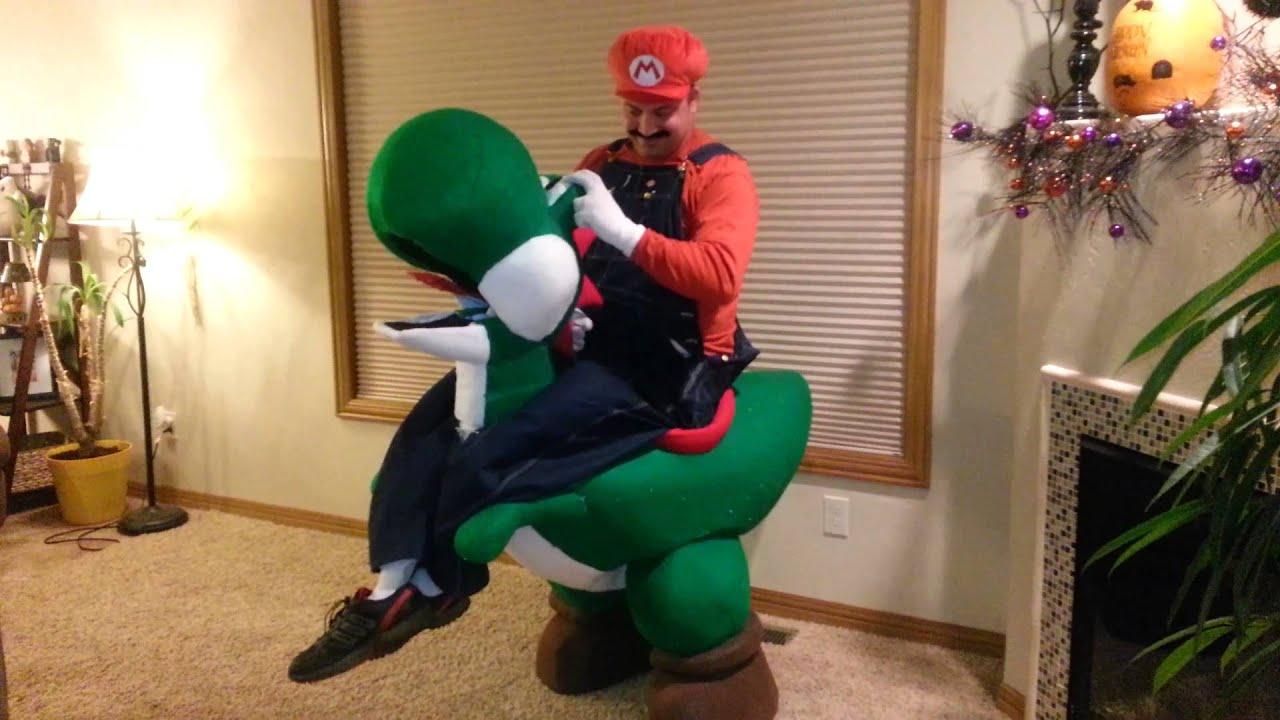 Yoshi Halloween Costume Diy.Mario Riding Yoshi Halloween Costume