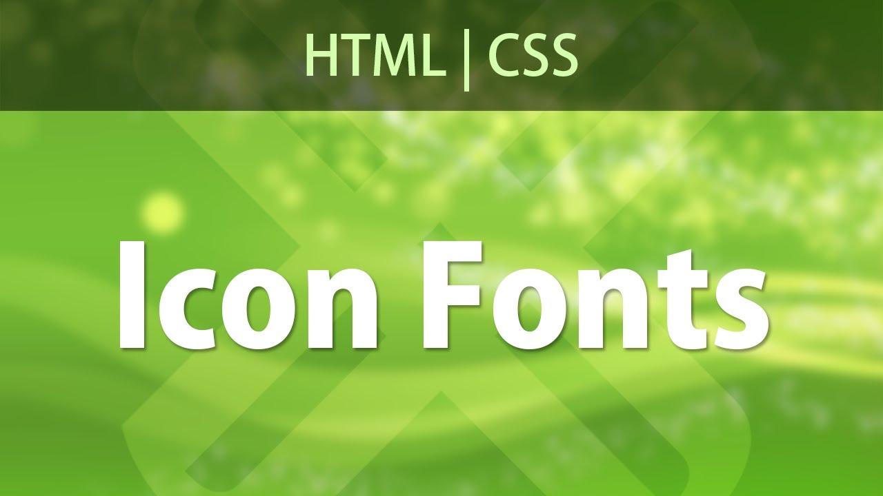 Icon Fonts com HTML e CSS