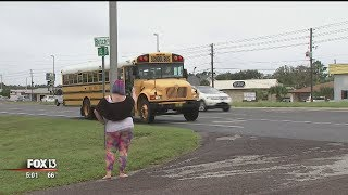 Florida deputies ticket drivers speeding past school bus