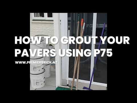 20200811 How to grout your pavers using P75