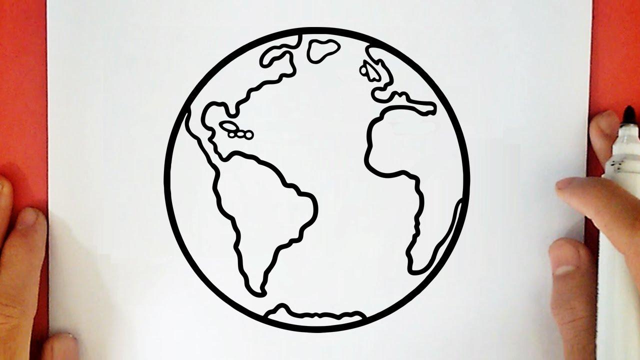 Comment Dessiner La Planete Terre Youtube