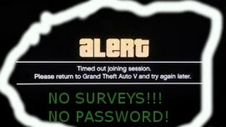 "How To - ""Timed Out Loading Session"" FIX) On GTA Online! (PATCHED) (July 2014)"