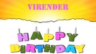 Virender   Wishes & Mensajes - Happy Birthday