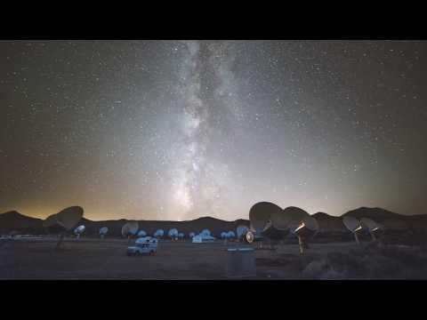 Milky Way Timelapse at SETI Allen Telescope Array - Hat Creek Observatory
