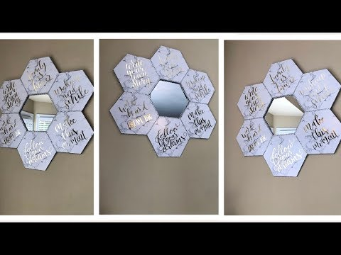 Dollar Tree DIY || 💕 Faux Marble and Gold Wall Mirror || Decorating Ideas 2019💕