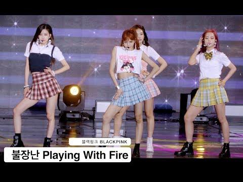 블랙핑크 BLACKPINK[4K 직캠]불장난 Playing With Fire@170724 Rock Music