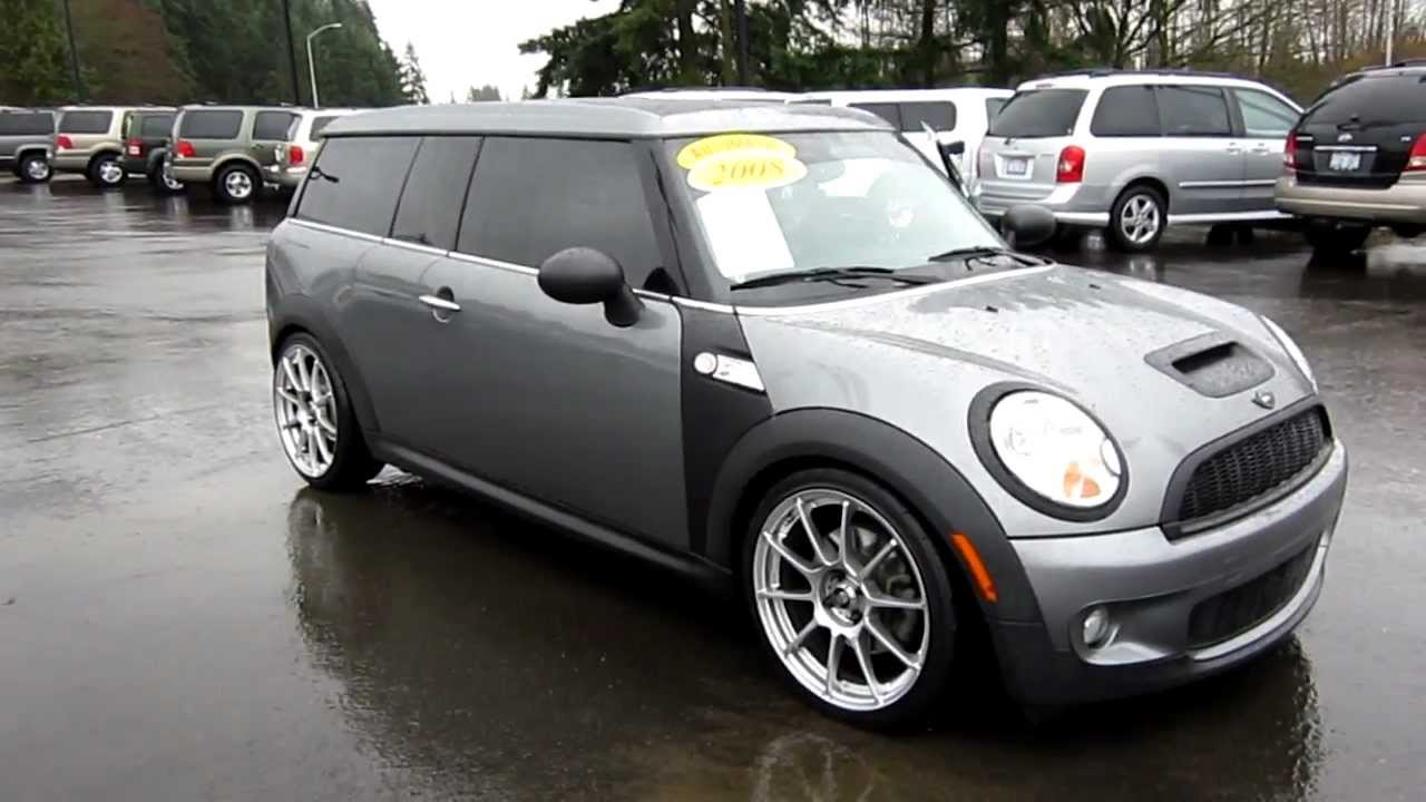 2008 mini cooper s clubman sparkling silver stock 6065331 walk around youtube. Black Bedroom Furniture Sets. Home Design Ideas