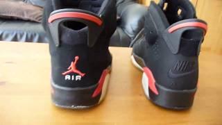 Repeat youtube video Air Jordan VI infrared fake comparison