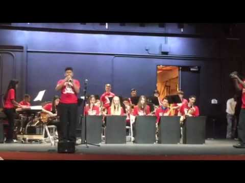 Coral Springs Middle School Jazz Band at Melton Mustafa Fedtival- with Luis F. Piccinelli.