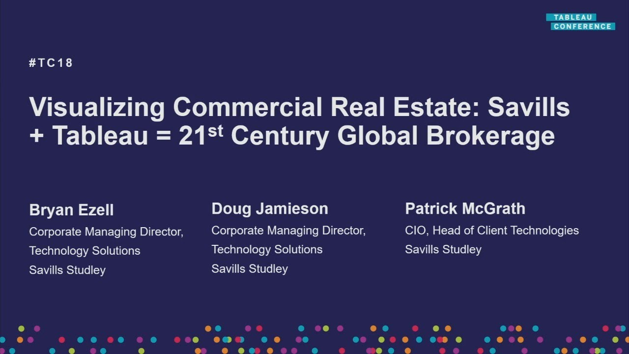 Visualizing commercial real estate   Tableau takes Savills to the 21st  Century