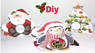 Diy Porta bombons natalinos