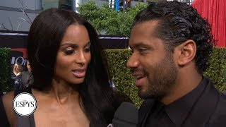 Russell Wilson and Ciara talk Seahawks and more on the red carpet   2019 ESPYS