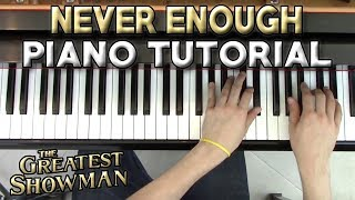 Never Enough - Piano Tutorial + Sheet Music - The Greatest Showman | George Vidal