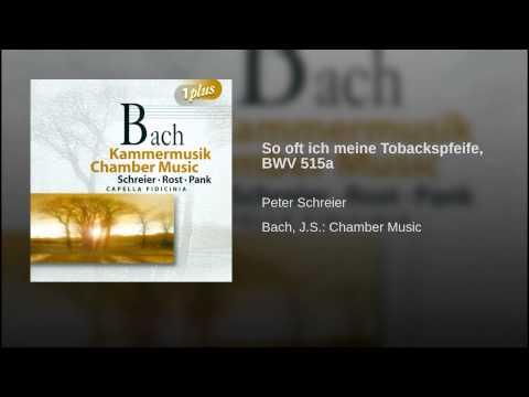So oft ich meine Tobackspfeife, BWV 515a