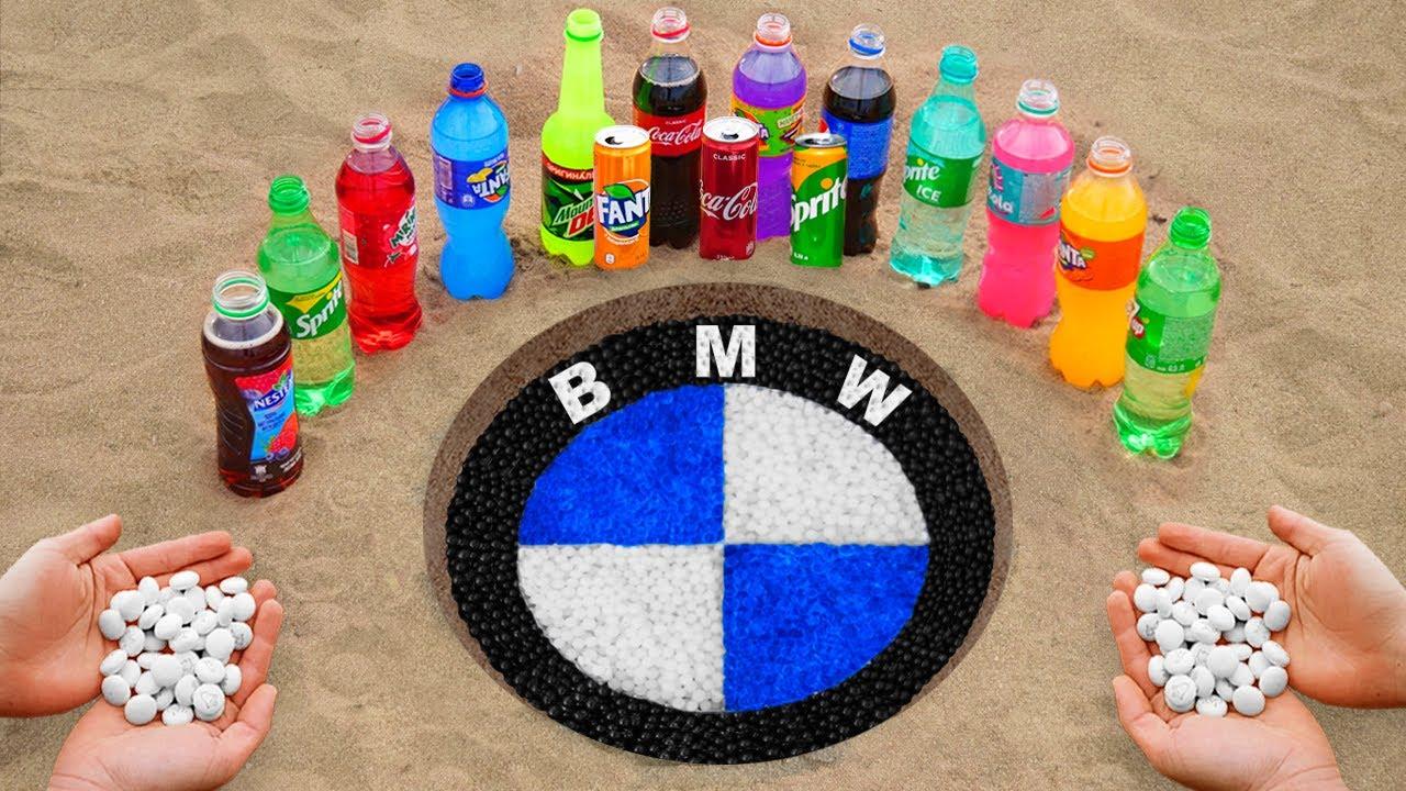 BMW Logo in the Hole with Orbeez, Coca Cola, Mentos & Popular Sodas