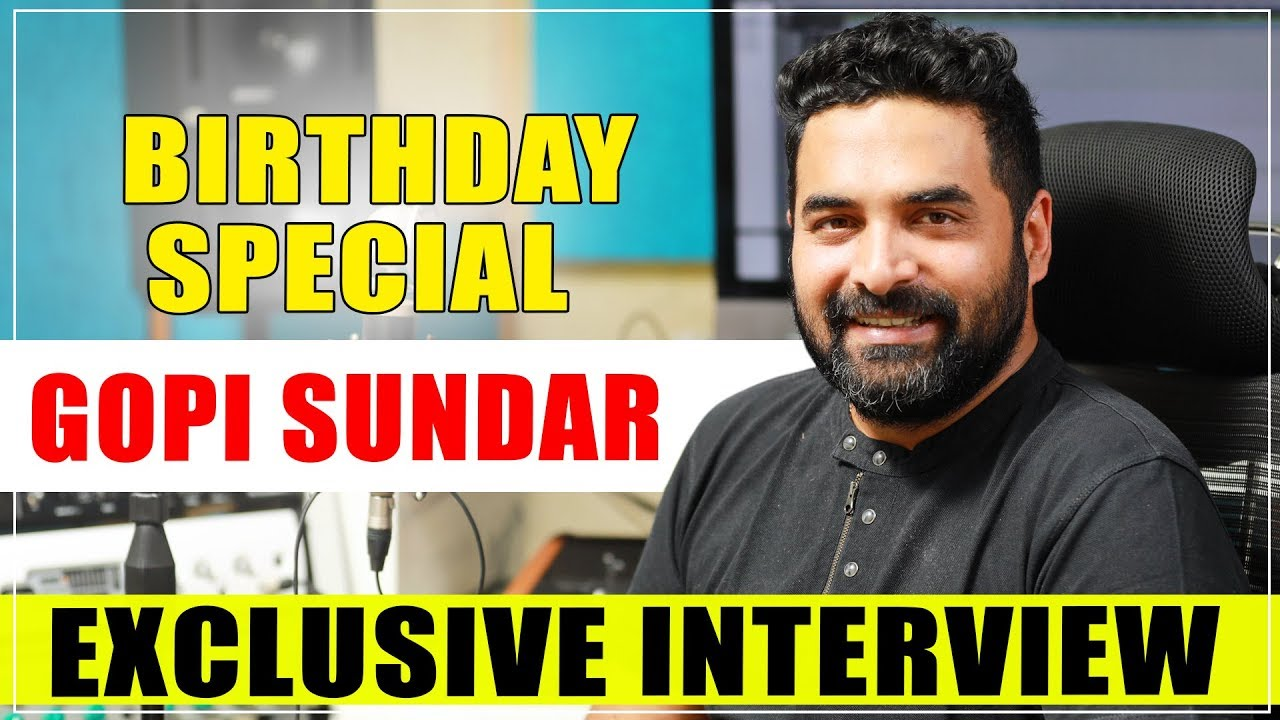 Gopi Sundar  Birthday Special Exclusive Interview | Celluloid Exclusive | Birthday Special Video