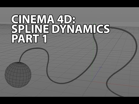 cinema 4d tutorial spline dynamics youtube. Black Bedroom Furniture Sets. Home Design Ideas