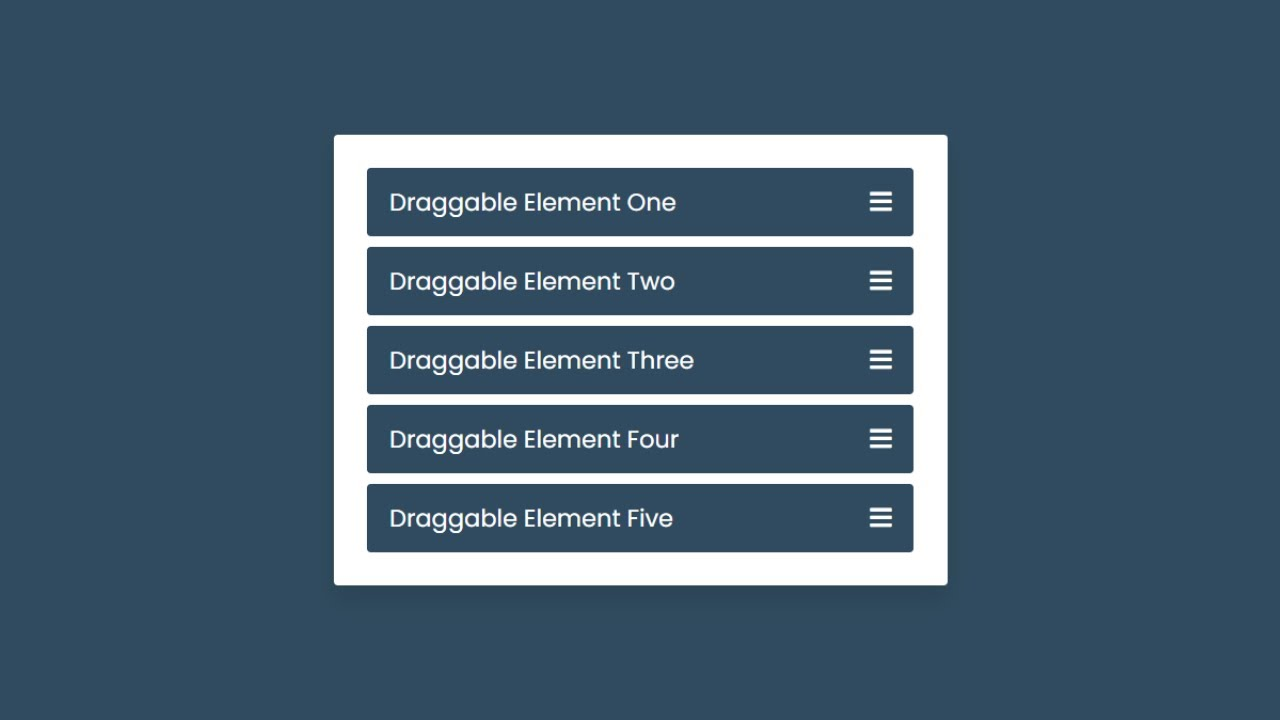 Drag & Drop List using HTML CSS & JavaScript | Draggable List in JavaScript