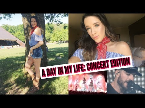 A DAY IN MY LIFE VLOG: CONCERT EDITION   SAM HUNT
