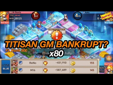 👊 GM GET RICH Bankrupt x80!!!!! WAJIB Nonton! Ft. Rank 500 👊