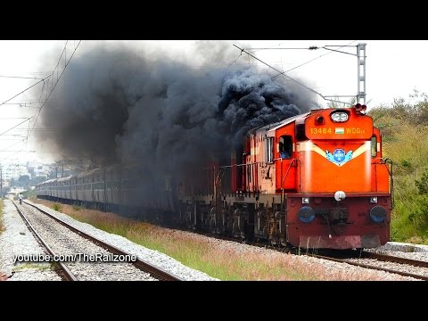 Thumbnail: HARDCORE Smoking Diesel ALCo Twins | Vivek Express | Indian Railways
