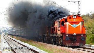 HARDCORE Smoking  Diesel ALCo Twins | Vivek Express | Indian Railways