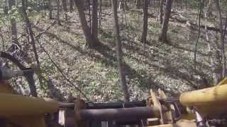 maintenance free super duty tree post puller clearing trails
