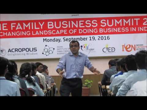Acropolis College Family Business Summit 2016, Session by  Samish Dalal