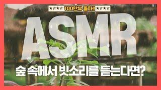 [집중력 높이는 소리] 숲 속에서 빗소리를 듣는다면? 백색소음 ASMR ★ 공신 강성태