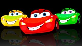 Colorful Cars Toys for Kids   Learn Colors with Finger Family Songs for Kids   Captain Discovery