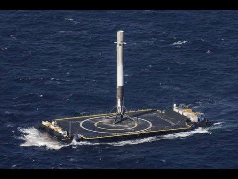 falcon 9 landing 8 april 2016 success spacex falcon 9 rocket nails ocean landing