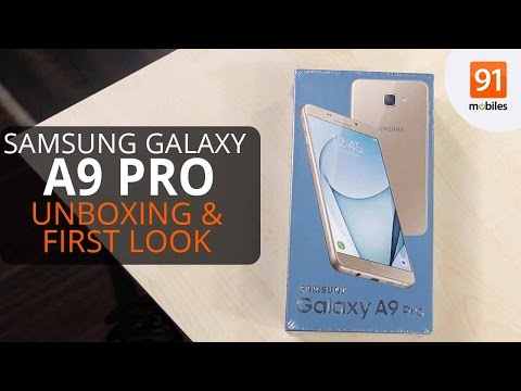Samsung Galaxy A9 Pro: First Look   Unboxing   Hands on   Price