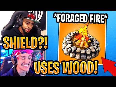 Streamers React To *NEW* Foraged Campfire! (LIGHT ANY CAMPFIRE) - Fortnite Best And Funny Moments