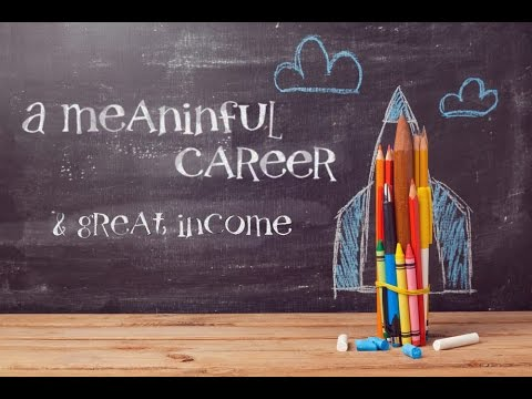 A meaningful career opportunity and a great source of income