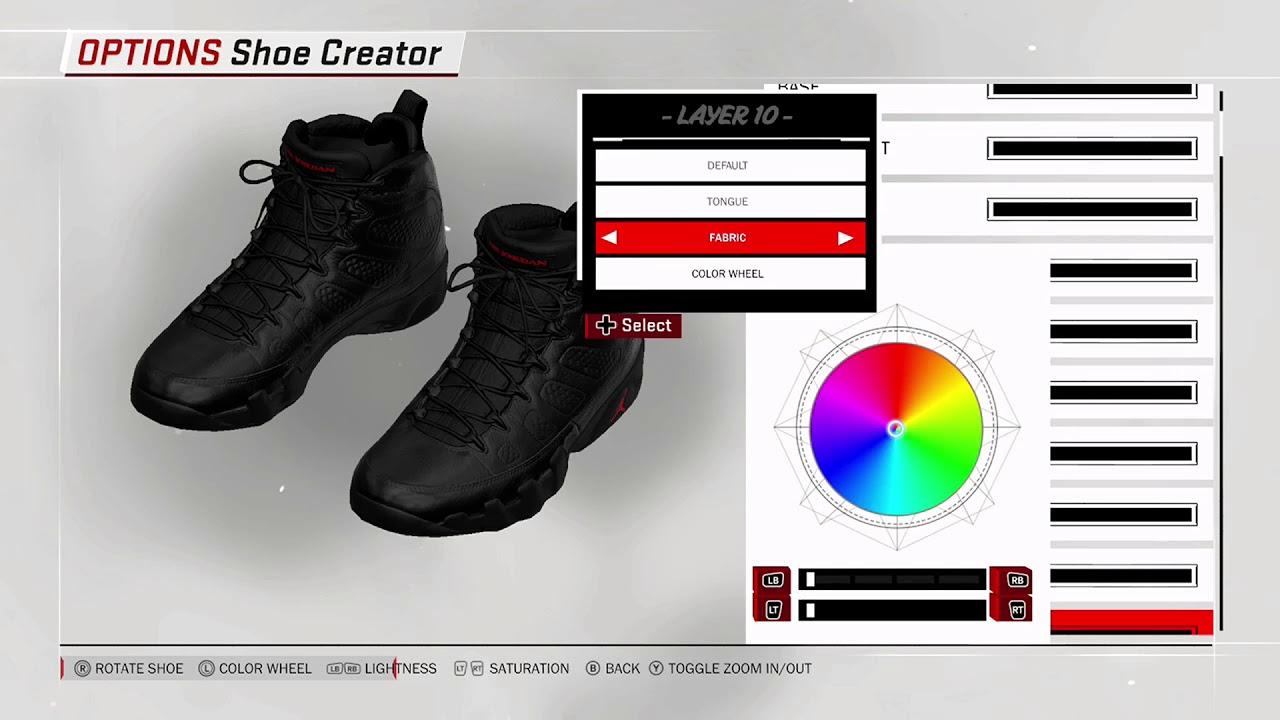 NBA 2K18 Shoe Creator - Air Jordan 9