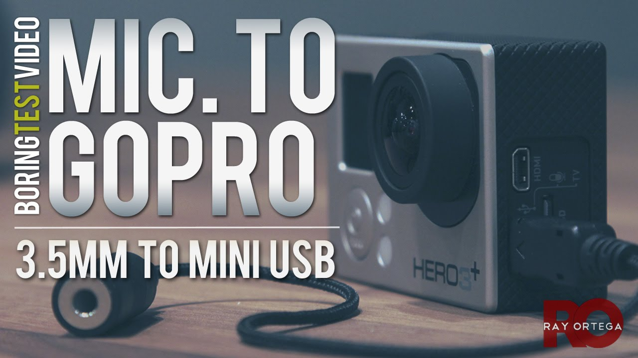 gopro microphone input 35mm to mini usb cable youtube