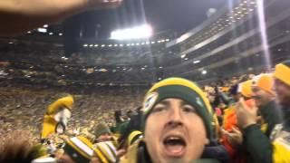 Lambeau field touchdown... Packers beating the Bears 42-0