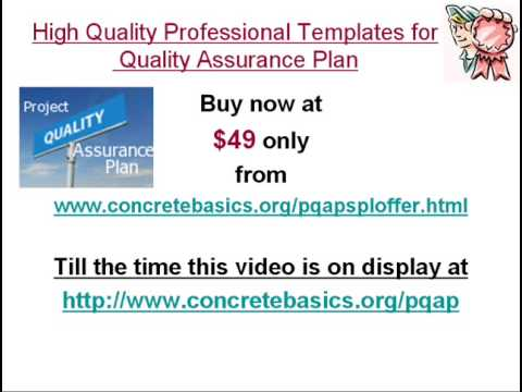 Professional Quality Assurance Plan Templates As Per Iso