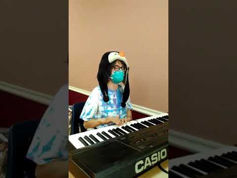 kiddo playing at shelter: March of the Wooden Soldiers excerpt Nutcracker Suite