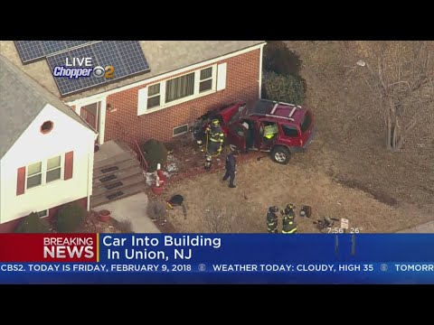 Car Into Building In Union, NJ