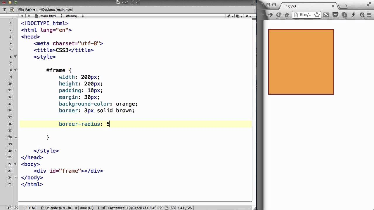 CSS3 - 04. Making a picture frame - YouTube