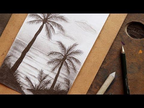 تعليم الرسم : كيف ترسم منظر طبيعي بسيط