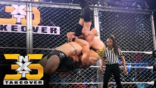 Cole nails O'Reilly with Panama Sunrise inside a Steel Cage: NXT TakeOver 36 (WWE Network Exclusive)