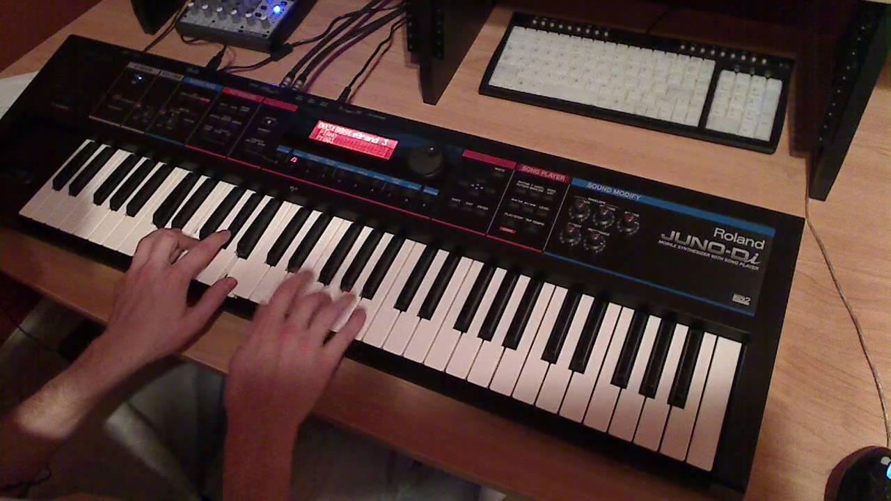 Roland Juno-Di Piano & Organ Sounds - YouTube