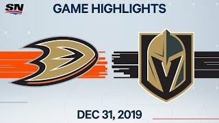 NHL Highlights   Ducks vs. Golden Knights - Dec. 31, 2019