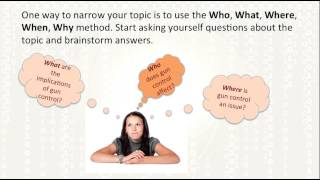 selecting a research topic formulating a research question