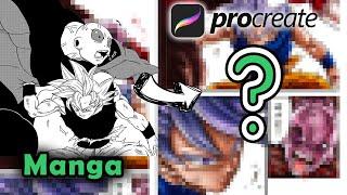Coloring Goku vs Jiren | Coloring Manga in Procreate