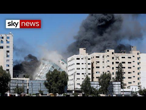 Israel strike destroys media tower in Gaza