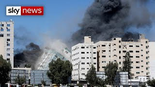 Israel strike destroys media tower in Gaza